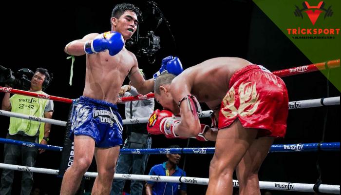 อุปกรณ์กีฬามวยไทย กีฬามวยไทย เป็นการใช้ร่างกายสำหรับการต่อสู้ ถือเป็นศิลปะการต่อสู้ของประเทศไทย ที่มีความโดดเด่น และเป็นกีฬาที่ได้รับความนิยมอย่างมากและเเพร่หลายไปในระดับนานาชาติ เนื่องจากนักมวยไทยหลายคนสามารถเอาชนะนักต่อสู้ที่มีชื่อเสียงได้ ปัจจุบันกีฬามวยไทยมีความจำเป็นอย่างมากเพราะเป็นศิลปะที่ใช้เพื่อความอยู่รอดและสร้างรายได้ สร้างชื่อเสียง อีกทั้งยังเป็นกีฬาที่ให้ประโยชน์หลายด้านไม่ว่าจะเป็นในเรื่องการป้องกันตัวในยามคับขัน เเละช่วยสร้างชื่อเสียงเนื่องจากเป็นศิลปะการต่อสู้ที่เป็นสมบัติของชาติ อีกทั้งยังเป็นมรดกทางวัฒนธรรมที่สืบทอดกันมาอย่างยาวนาน จึงถูกนำมาใช้เพื่อการเเข่งขันหรือใช้ในระบบการศึกษากันอย่างเเพร่หลายในปัจจุบัน