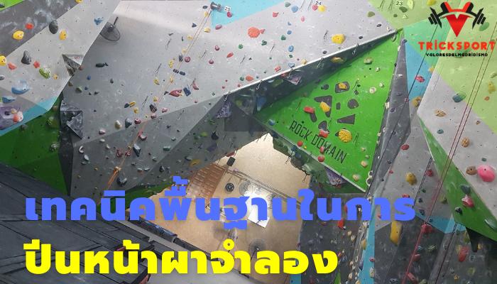 เทคนิคพื้นฐานในการปีนหน้าผาจำลอง